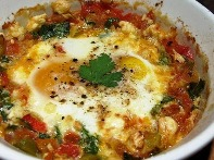 Low-Calorie Baked Eggs with Tomatoes and Bell Pepper Recipe - Diet ...