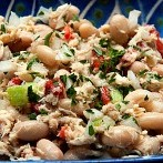 Low-Calorie Tuna Cannellini Bean Salad Recipe