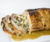 Roasted Artichoke-Feta Stuffed Pork (Diabetic Recipe)