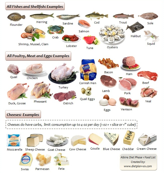 atkins-diet-phase1-protein-food