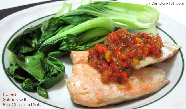 baked-salmon-with-bok-choy-salsa