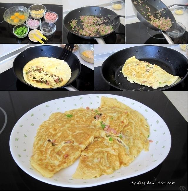 bellpepper-ham-cheesy-omelet