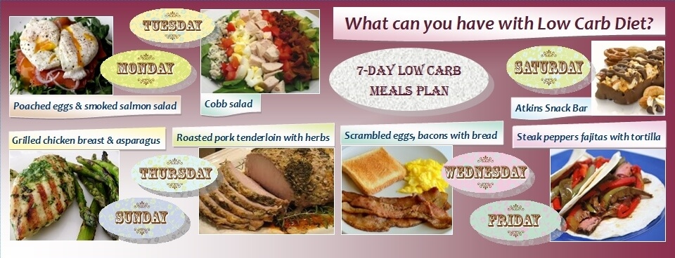 Free low fat diet menu