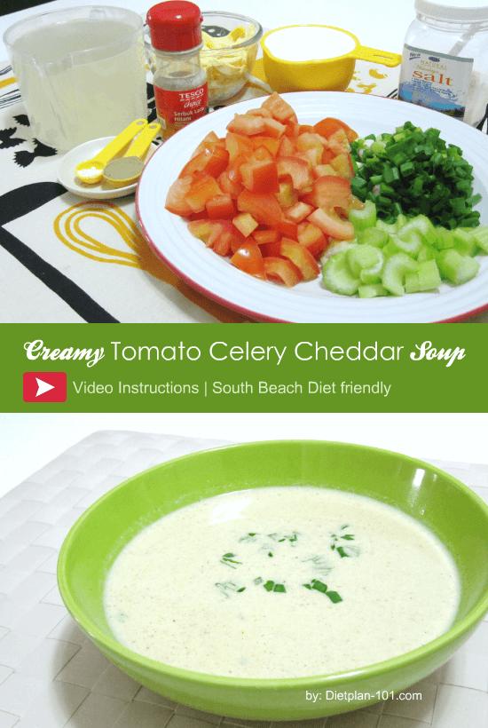 Tomato Celery Cheddar Soup Recipe