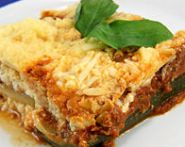 Zucchini TVP Lasagna (The Zone Diet Recipe)