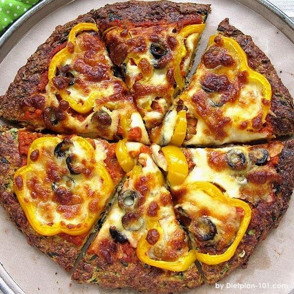 Low CarbZucchini Crust Pizza Recipe
