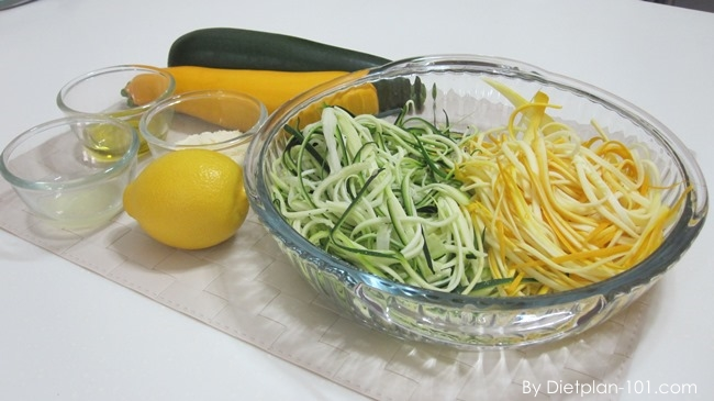 Zucchini Pasta Salad with Parmesan