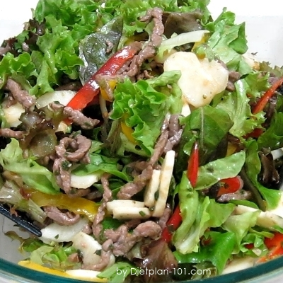 Asian Tamari Sauce Beef Salad (Atkins Diet Phase 1 Recipe)