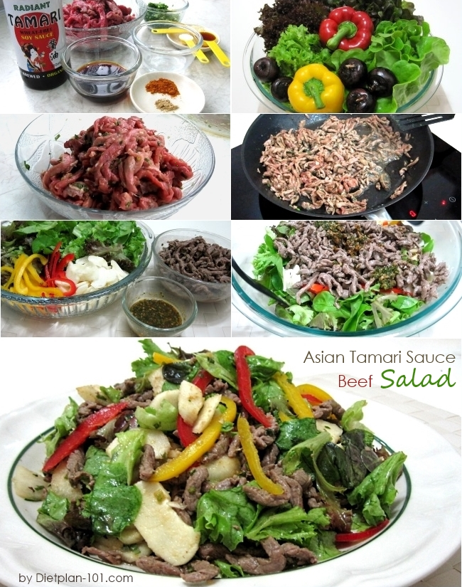Asian Tamari Sauce Beef Salad (Atkins Diet Phase 1 Recipe) - Diet Plan ...