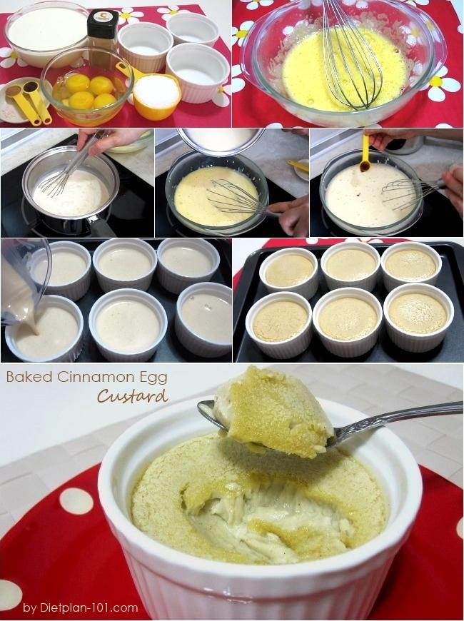Baked Cinnamon Egg Custard (Atkins Diet Phase 2 Recipe) - Diet Plan ...