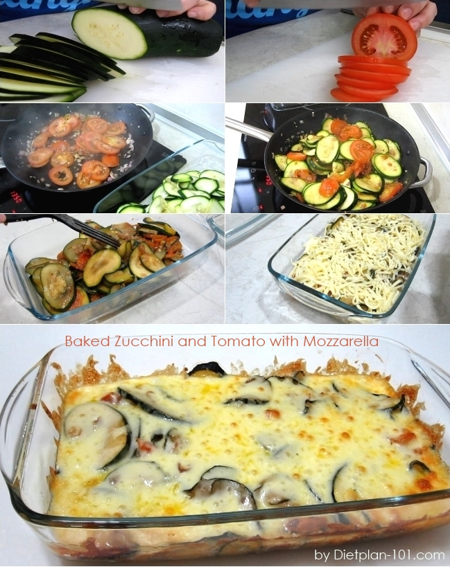 Baked Zucchini and Tomato with Mozzarella (South Beach Phase 1 Recipe)