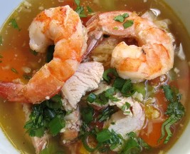 chicken-shrimp-mixed-veggies-soup