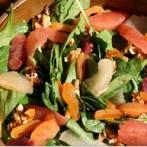 Citrus Water Chestnut Spinach Salad Recipe