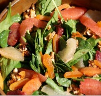 Citrus Water Chestnut Spinach Salad Recipe