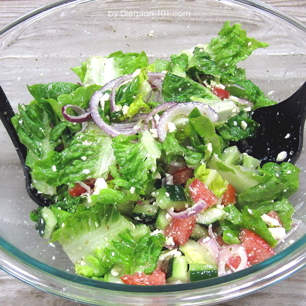 Greek Salad without Olives (South Beach Phase 1 Recipe)