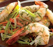 pan-seared-shrimp-carrot-leek