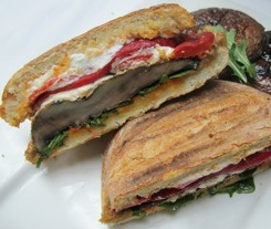 Portobello Mushroom Pita Sandwich (South Beach Phase 2 Recipe)