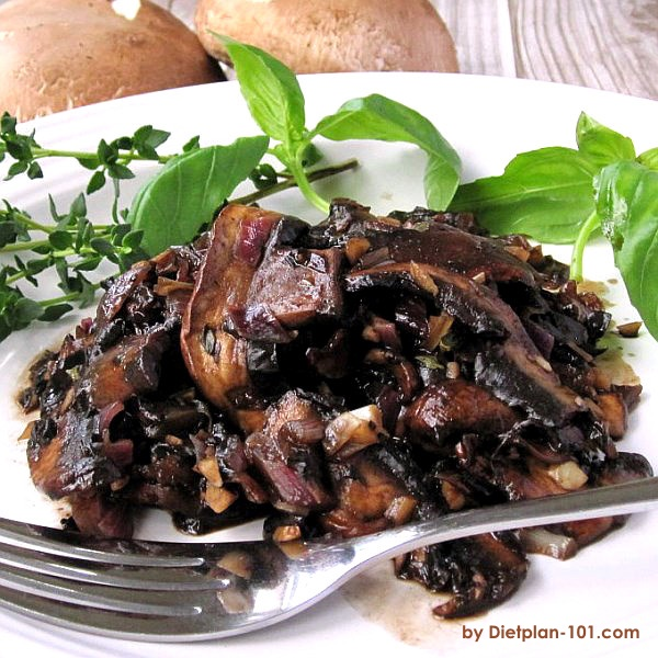 Sautéed Balsamic Portobello Mushrooms (South Beach Phase 1 Recipe)