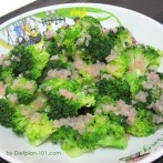 Steamed Broccoli with Lemon Butter Sauce (Atkins Diet Phase 1 Recipe)
