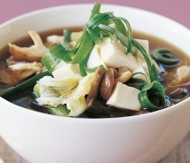 Japanese Vegetables Tofu Soup (Atkins Diet Phase 3 Recipe)