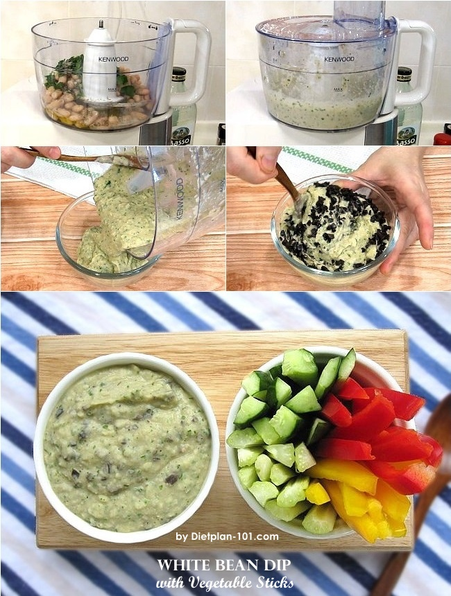 white-bean-dip-with-vegetable-sticks-steps