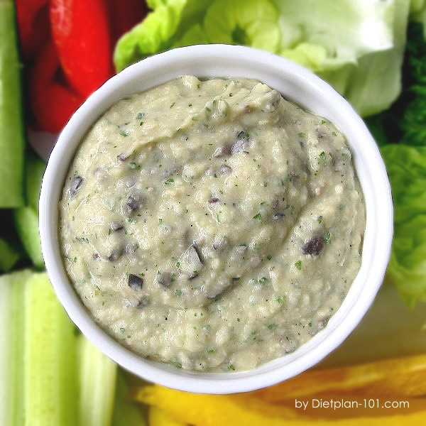 White Bean Dip with Vegetable Sticks (South Beach Phase 1 Recipe)