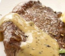 Gluten-Free Peppered Steak with Brandy Sauce Recipe