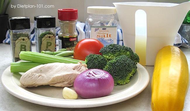 mixed-veggies-green-bean-chicken-soup-ingr