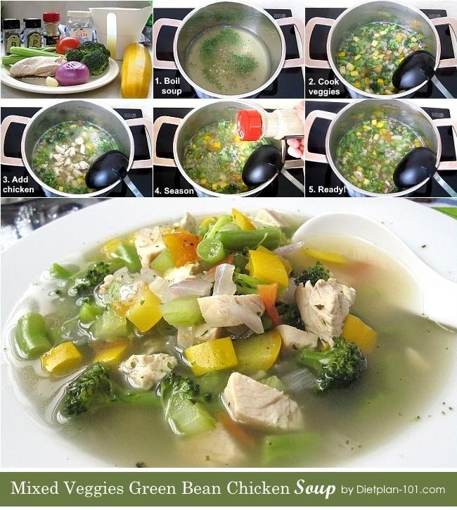 mixed-veggies-green-bean-chicken-soup-steps