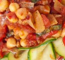 Stir-Fried Chickpeas with Zucchini and Mushroom (South Beach Phase 1 Recipe)