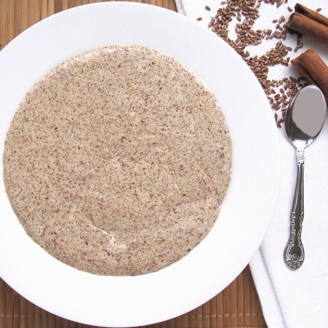 Low Carb Hot Cinnamon Flax Meal Porridge Recipe