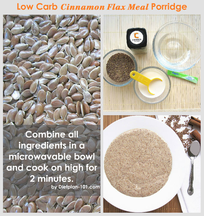 Low Carb Hot Cinnamon Flax Meal Porridge Recipe