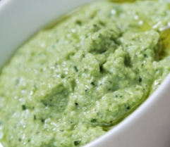Edamame Hummus with Italian Parsley (Diabetic Recipe)
