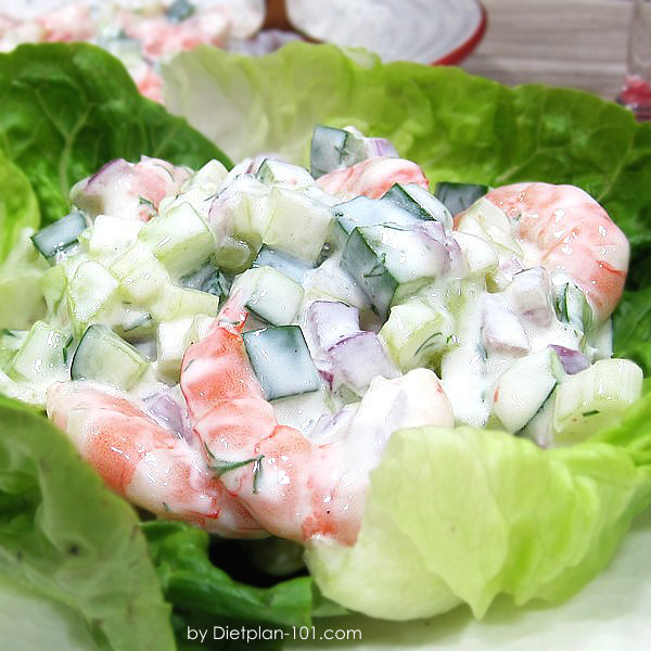 Cucumber Celery Shrimp Chopped Salad (Dukan Diet PV Cruise Recipe)