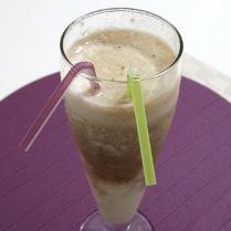 Two-Layer Milk Coffee Banana Smoothie (Diabetic Recipe)