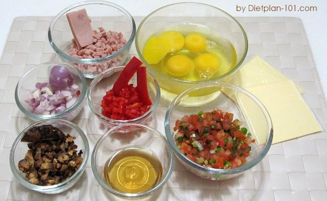 ham-mushroom-cheddar-omelet-salsa-ingr