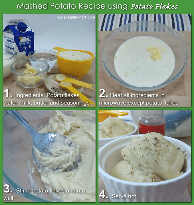 Step-by-step Mashed Potato Recipe using Potato Flakes