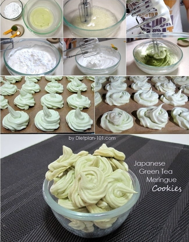 japanese-green-tea-meringue-cookies-steps