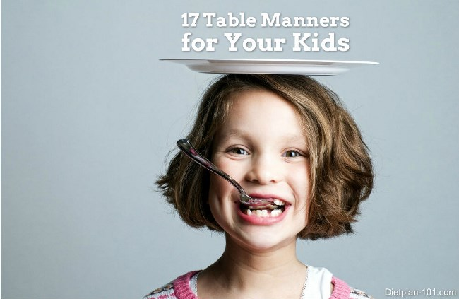 17 Table Manners for kids