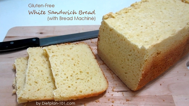 Gluten-Free White Sandwich Bread (with Bread Machine) Recipe - Diet ...