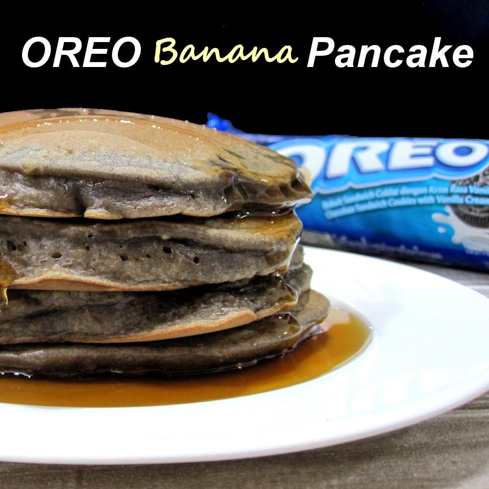 Fun Oreo Banana Pancake