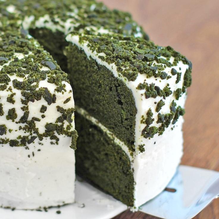Green Velvet Layer Cake