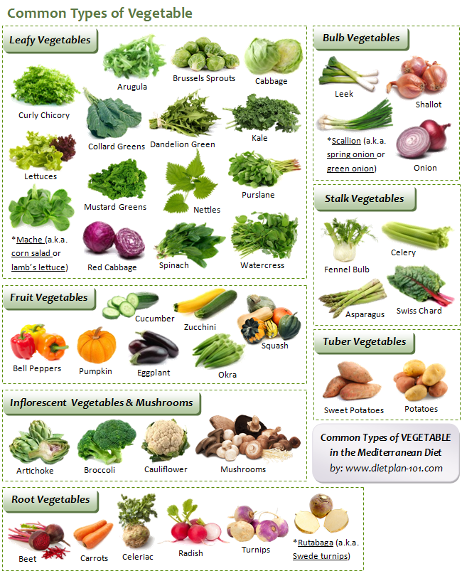 Vegetables List What are the Common Me...