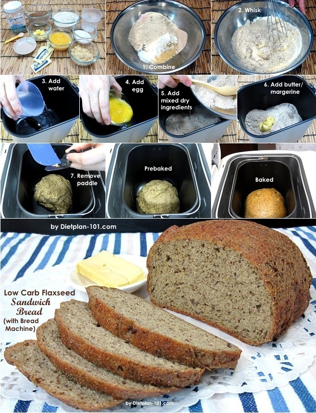 Low Carb Flaxseed Sandwich Bread With Bread Machine Recipe Diet