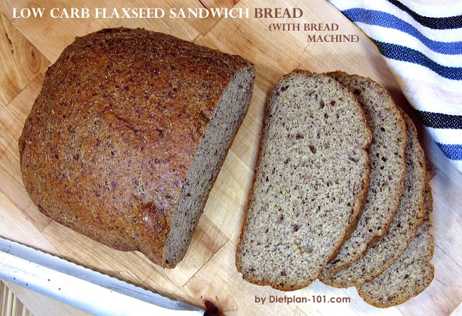 Low Carb Flaxseed Sandwich Bread With Bread Machine Recipe