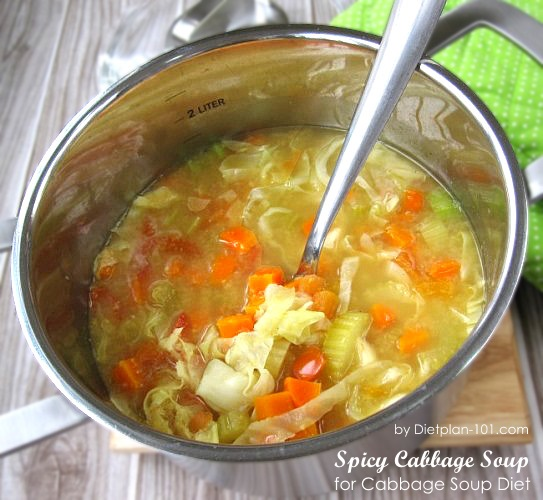 Spicy Cabbage Soup for Cabbage Soup Diet