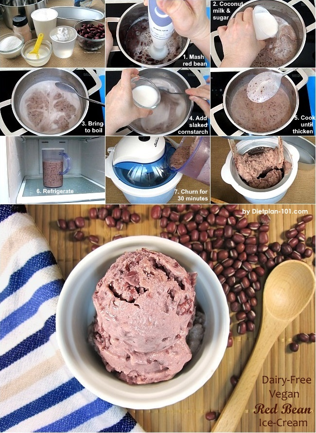 Iced red bean with coconut milk recipesbnb dairy free vegan red bean ice cream recipediet plan 101 ccuart Gallery